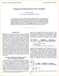 Moog presenta il suo strumento, atti del Convegno AES 1964 - continua su http://www.moogarchives.com/aes01.htm