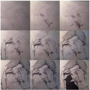 """Marco """"Morgan"""" Castoldi -making of (Debora Pagano, pastello su carta)"""
